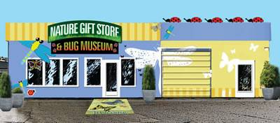 Visit our retail store location & Bug Museum & Gift Shop