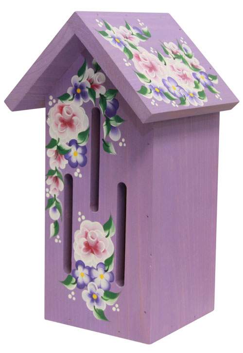 Purple Butterfly Houses with Roses