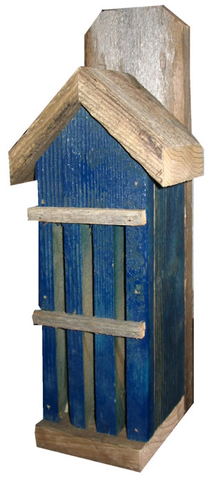 Rustic Butterfly House – Blue