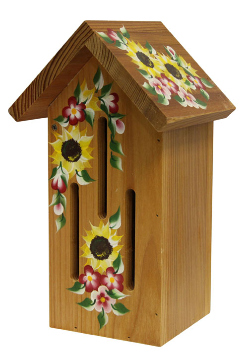 Natural Butterfly Houses with Sunflowers