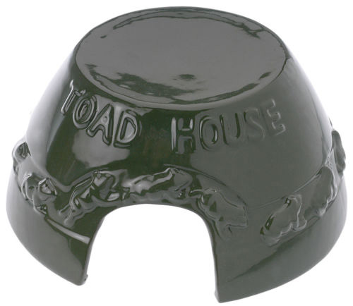Green Ceramic Toad House