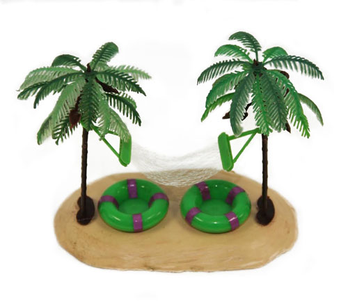 Habitat Centerpiece: Palm Trees with Hammock
