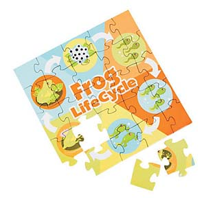 12 Frog Life Cycle Puzzles